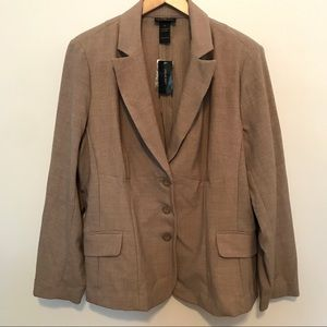 Lane Bryant Blazer NWT Size 18 Taupe Color